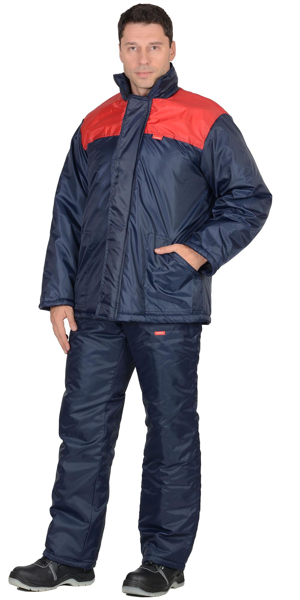 """Костюм """"Рост"""" куртка синяя с красным, брюки темно-синие"""
