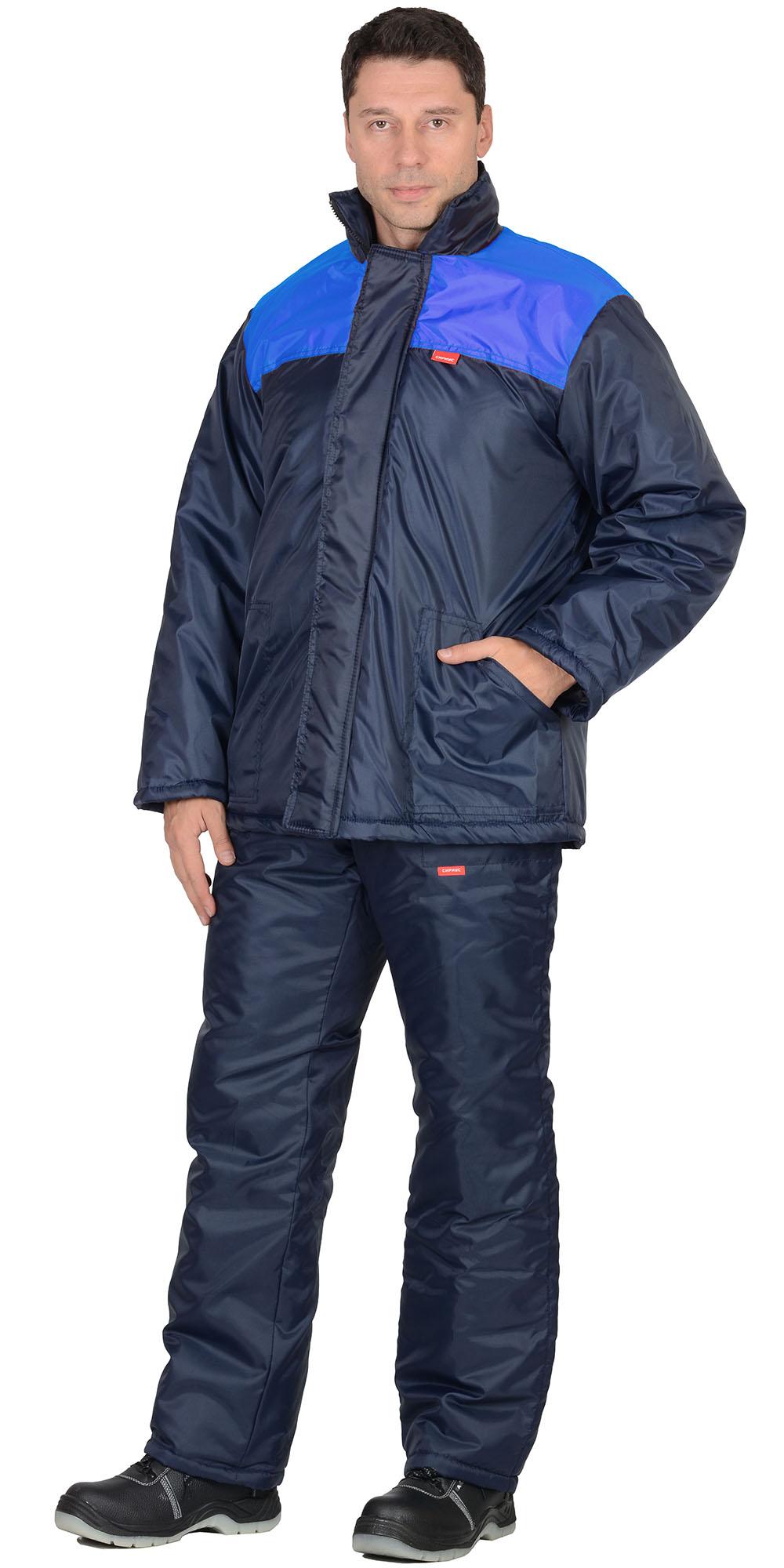 """Костюм """"Рост"""" куртка дл. , брюки синий с васильковым"""