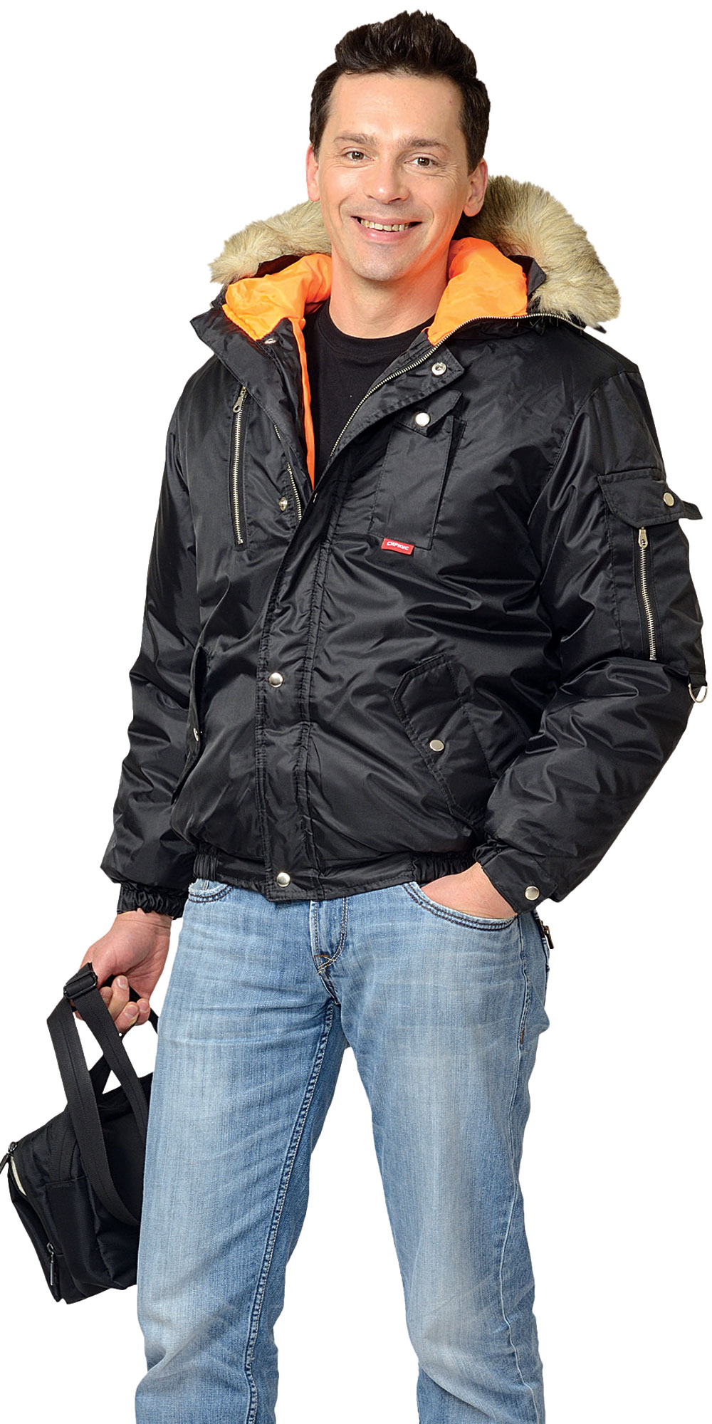 "Куртка ""АЛЯСКА"" укороченная чёрная"