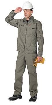 """Костюм """"Даллас"""" летний куртка, полукомбинезон, цв.оливковый"""