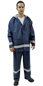 Костюм влагозащитный синий ПВХ с СОП, плотность 280 г/кв.м