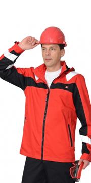 """Куртка """"Сидней"""" красная с черным и СОП"""