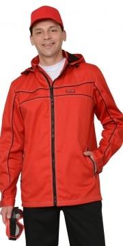 """Куртка """"Мельбурн"""" длин., красная с черным кантом"""