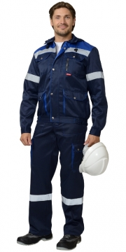 "Рабочий костюм ""ТИТАН"" с комбинезоном, темно-синий, недорого."