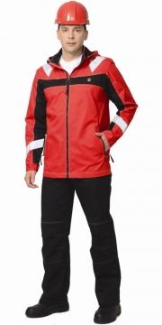 """Костюм """"Сидней"""" куртка, брюки красный с черным тк.Rodos"""