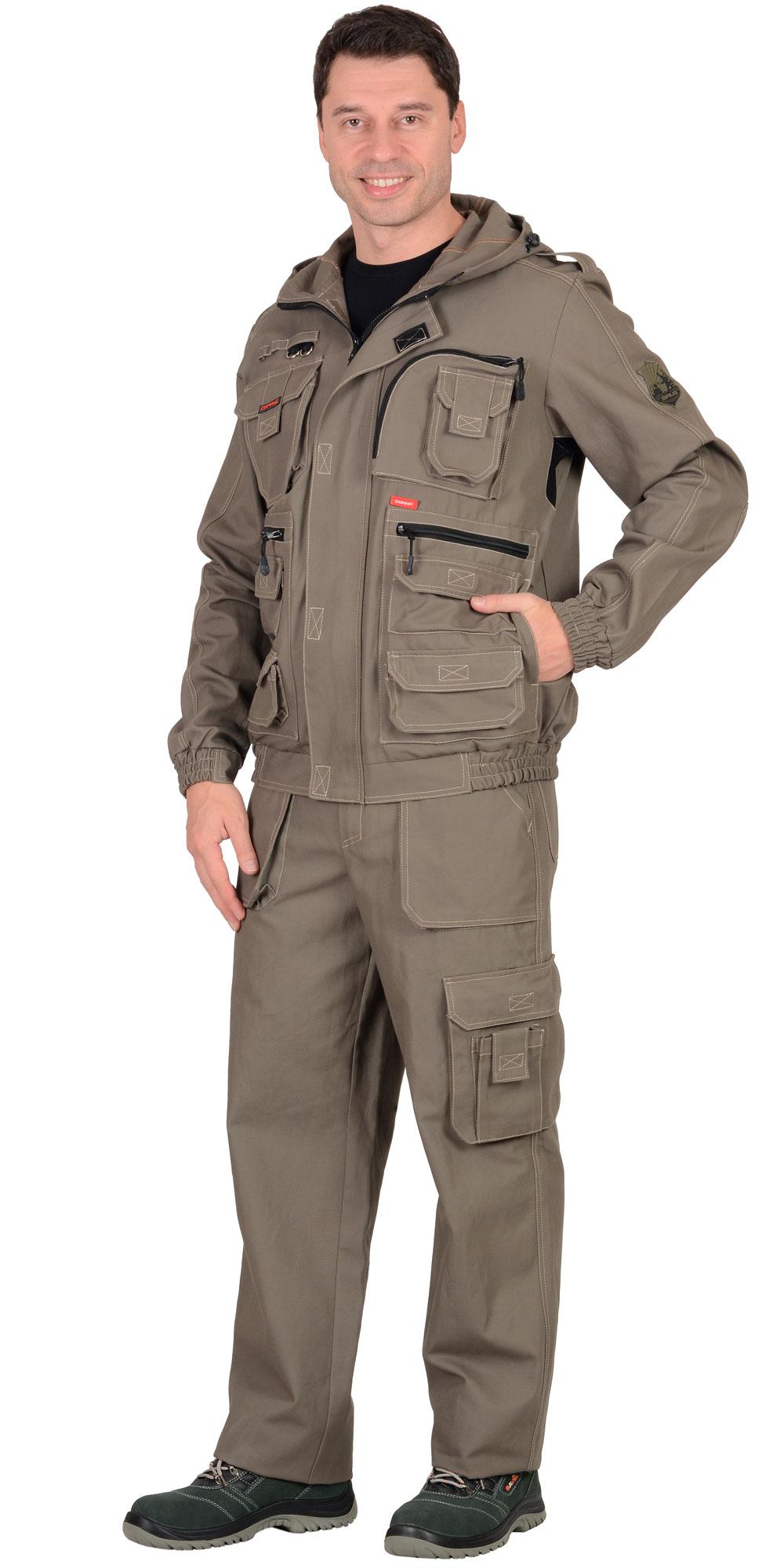 """Костюм """"Канвас"""" куртка кор., брюки ткань 100% х/б"""