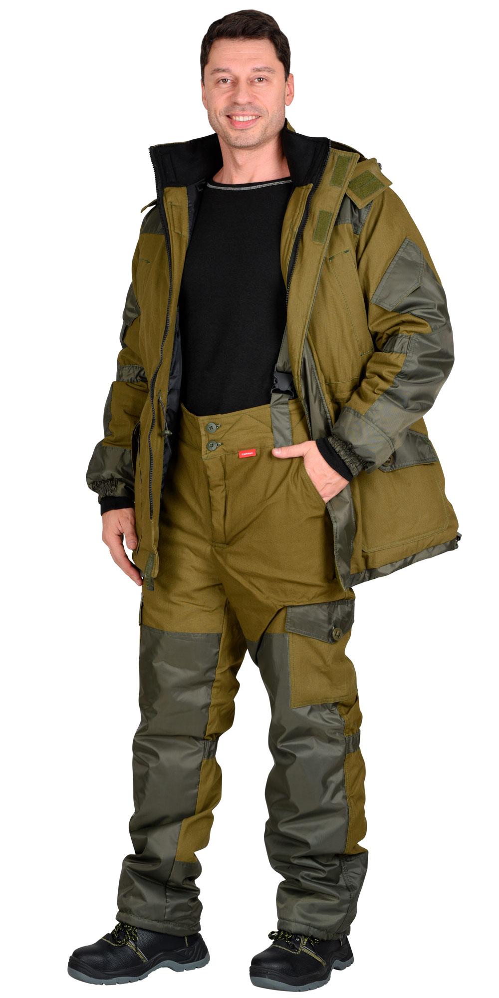 "Костюм ""ГОРКА""куртка дл., брюки (тк.палатка) хаки"