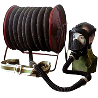Противогаз шланговый ПШ-20Б - РВ шланг ПВХ (Барабан)