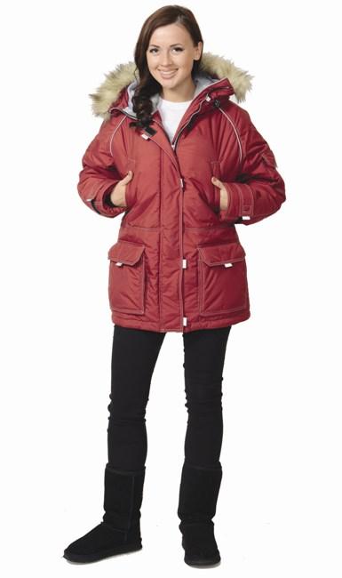 "Куртка ""Аляска"" женская бордо"