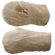 Рукавицы х/б с двойным наладонником, ткань х/б, саржа пл.240 гр