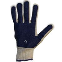 Перчатки х/б с ПВХ сплошное покрытие ладони (60 гр, длина 25 см, оверлок)
