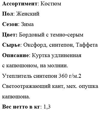 "Описание костюм ""Карелия"""