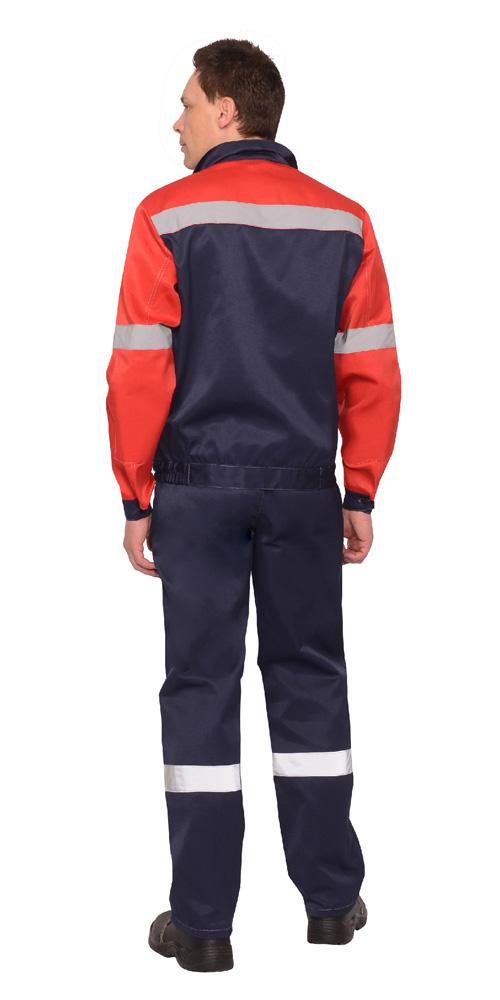 """Костюм """"ЛЕГИОНЕР"""": лето куртка, брюки синий с красным и СОП 50 мм вид сзади"""