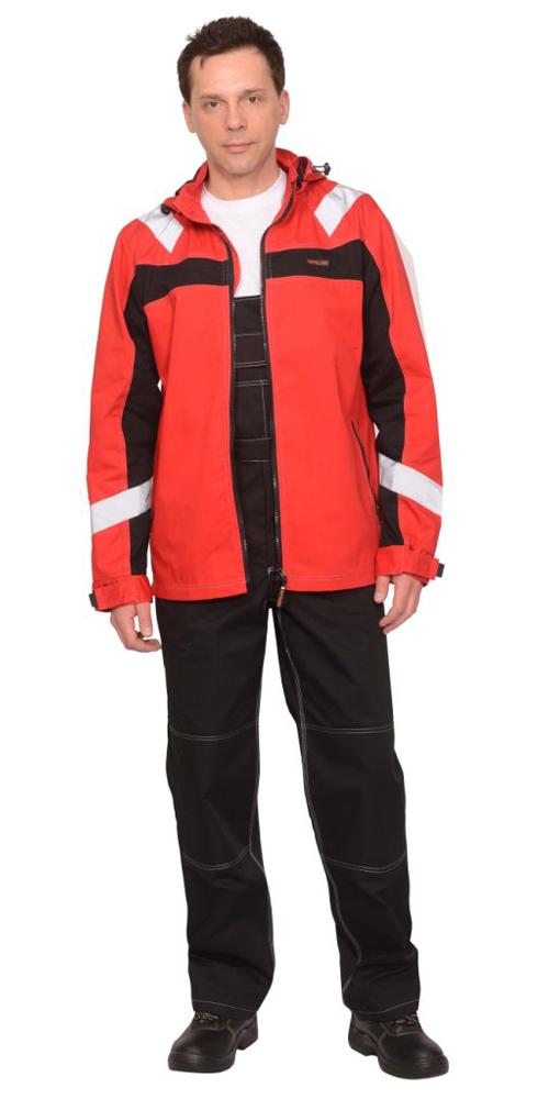 """Костюм """"Сидней"""" куртка, п/к, красный с черным"""