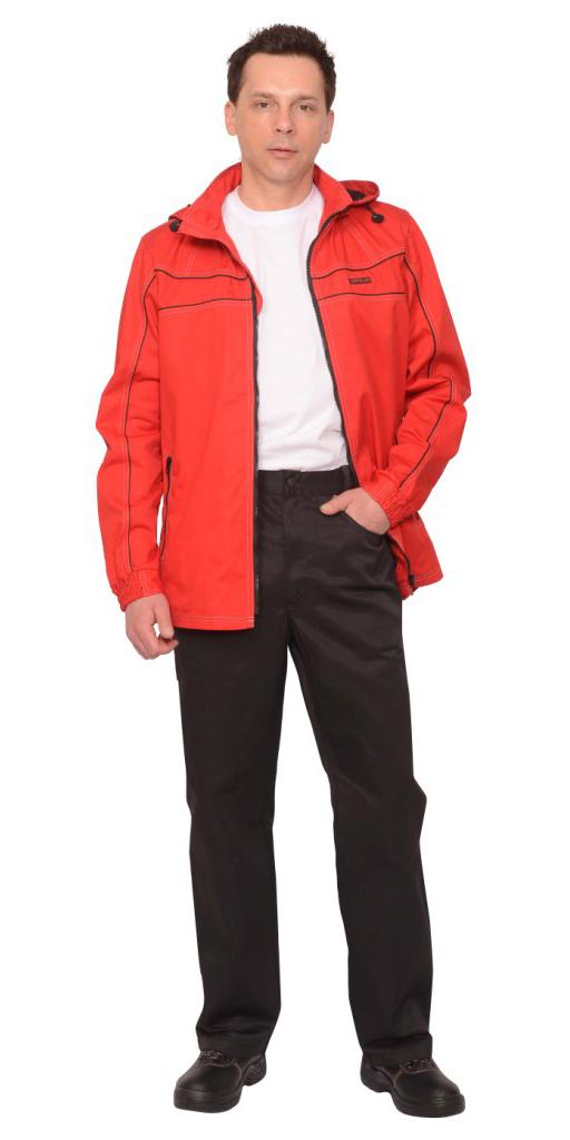 """Костюм """"Мельбурн"""" : куртка,брюки красный с черным кантом"""