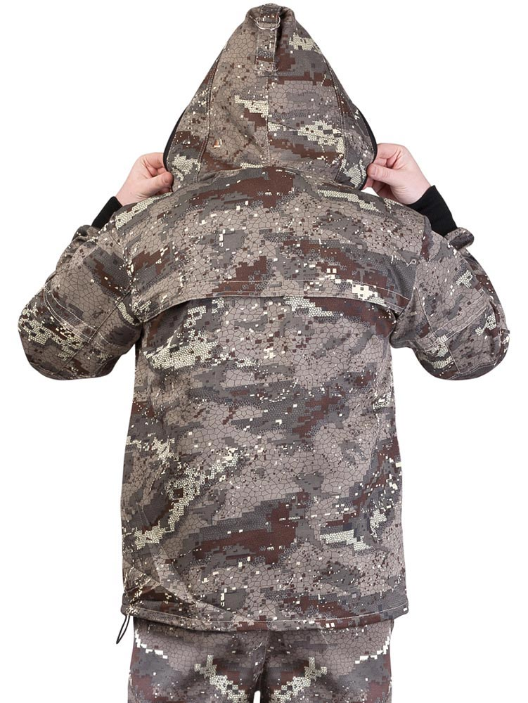 "Куртка противоэнцефалитная ""АНТИГНУС СТ"", тк. Crown КМФ Питон. Вид сзади."