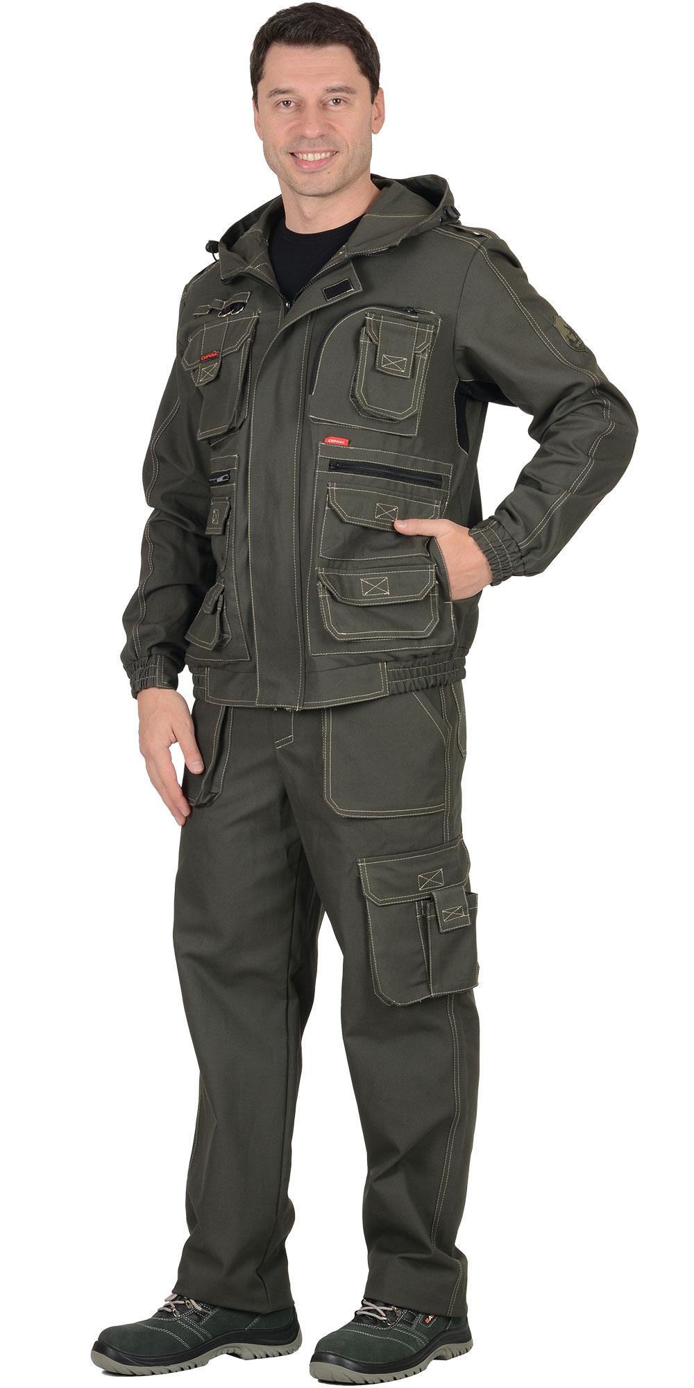 """Костюм """"Канвас"""" куртка кор., брюки, ткань 100% х/б"""