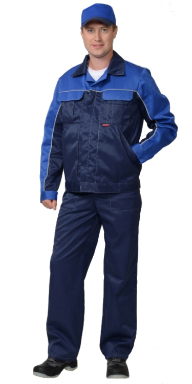 "Костюм ""АВТОМАСТЕР"" куртка, п/комб. синий с васильковым"
