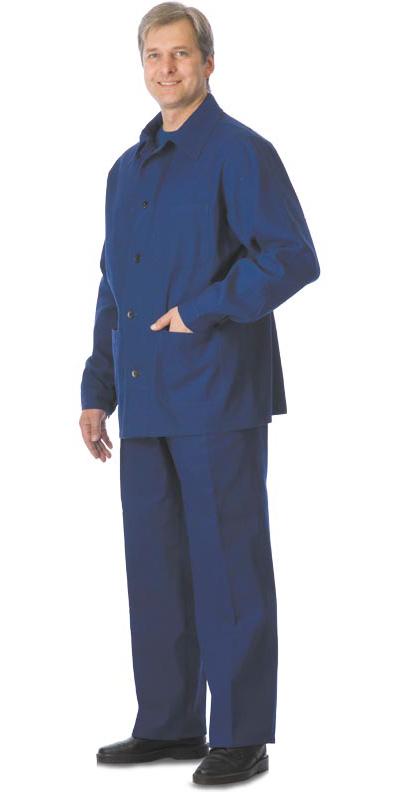 Костюм с налокотниками и наколенниками куртка, брюки, синий