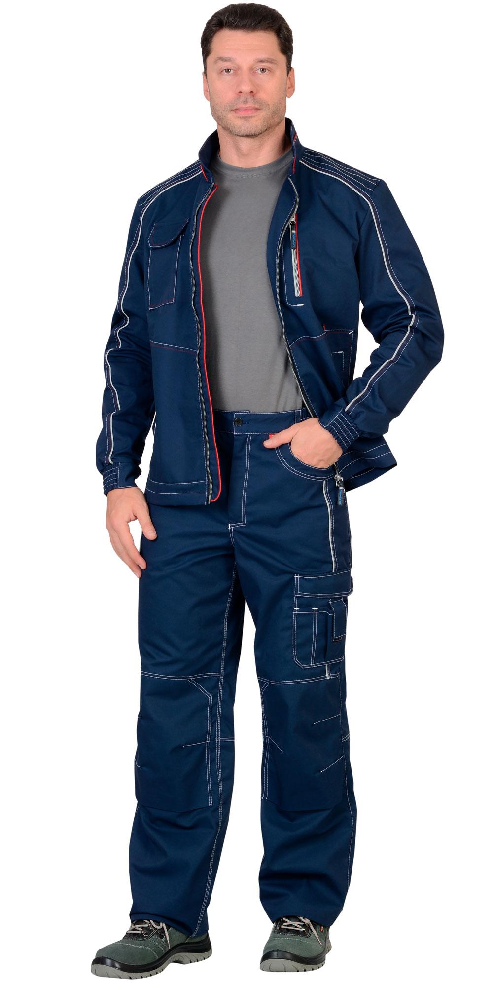 "Костюм ""АЛЕКС"" летний мужской: куртка, брюки, темно-синий"