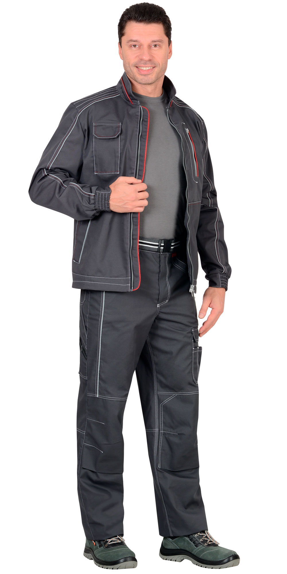 "Костюм ""АЛЕКС"" куртка, брюки, темно-серый"