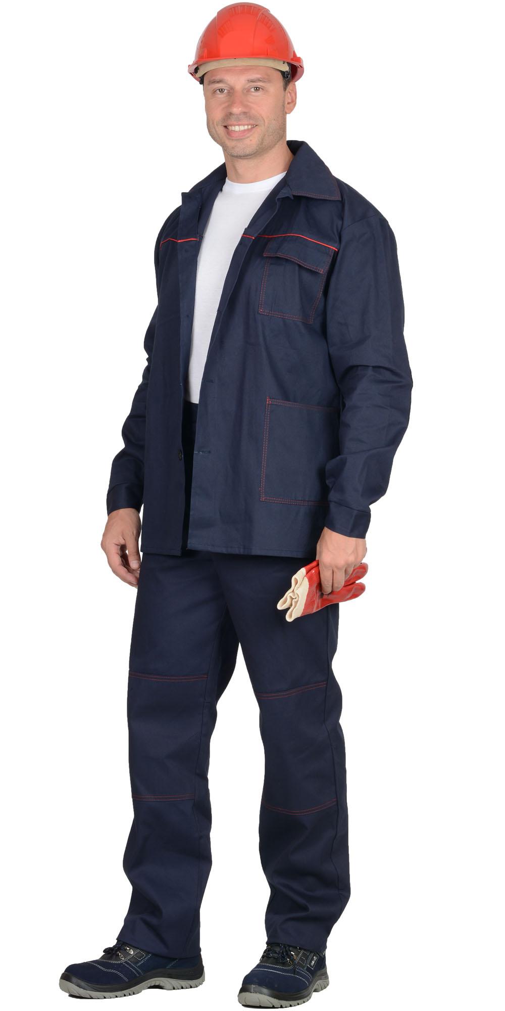"""Костюм """"ИМПУЛЬС"""" куртка, брюки синий с красным кантом"""