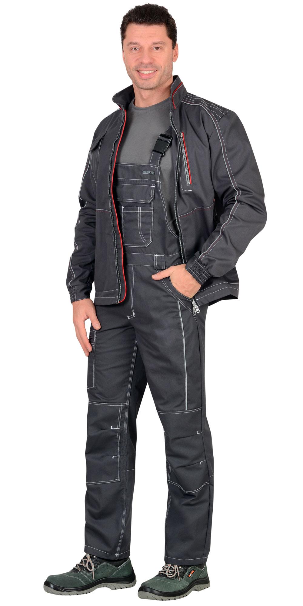 "Костюм ""АЛЕКС"" куртка, п/к, темно-серый"